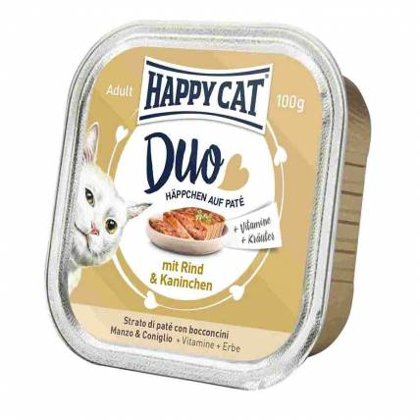Happy Cat DUO MENU ar liellopu un trusi 100g